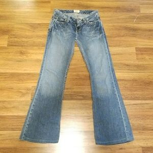 Flared bootleg jeans